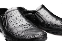 Wet Shoes stock photography