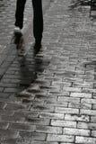 Wet sidewalk Stock Images