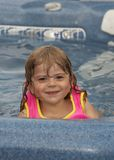 Wet smile Stock Photography