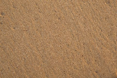 Wet smooth sand on the seashore Royalty Free Stock Photography