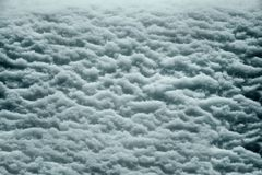 Wet snow relief Royalty Free Stock Photography