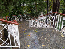 Wet stairs to the Chekhov museum home Royalty Free Stock Images