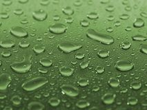 Wet steel. Steel covered drops of  water Royalty Free Stock Images