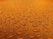Wet steel. Steel covered drops of  water Stock Photo