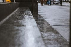 Wet steps- watch out! royalty free stock image