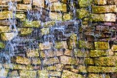 Wet stone brick wall Royalty Free Stock Photography