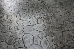Wet stone floor Stock Photography