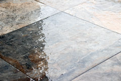 Wet stone floor photograph. Photograph of a wet stone floor Royalty Free Stock Images