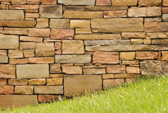 Wet Stone Wall After Spring Shower Stock Photos