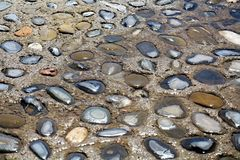 Wet stones, background royalty free stock photos