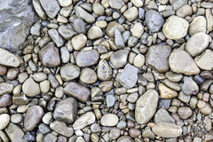 Wet stones in a river. Detail of boulders, nature royalty free illustration