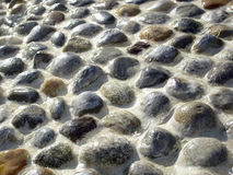 Wet stones texture Royalty Free Stock Image