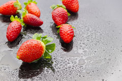 Wet strawberries Royalty Free Stock Photography