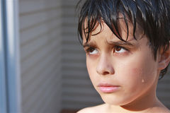 Wet, Sullen Child Royalty Free Stock Photo