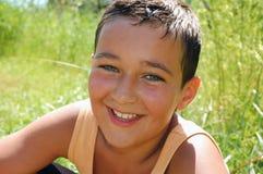 Wet summer kid Stock Photos