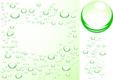 Wet surface. Initial ball-drops is present Stock Photography