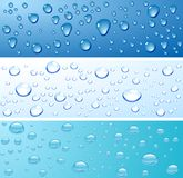 Wet surface. Three wet surfaces. Vector illustration Royalty Free Stock Image