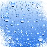 Wet surface. Blue wet surface. Vector illustration Stock Photos