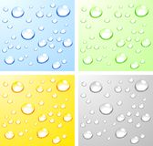 Wet surfaces. Color Wet surfaces. Vector illustration Royalty Free Stock Photos