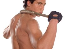 Wet sweaty bodybuilder Royalty Free Stock Images