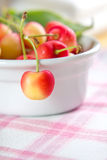 Wet sweet cherry Stock Image