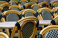 Wet tables and chairs Royalty Free Stock Image