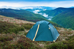 Wet tent Stock Photography