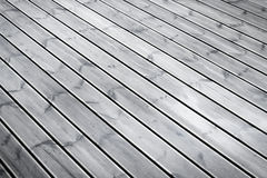 Wet terrace brown wood floor Stock Images