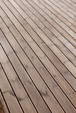 Wet terrace wooden floor Royalty Free Stock Photos