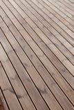 Wet terrace wooden floor Royalty Free Stock Photos