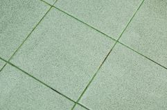 wet tile floor in house bathroom Royalty Free Stock Images