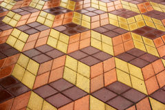 Wet tiles - pavement after the rain Royalty Free Stock Image