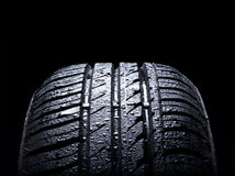 Wet tire Royalty Free Stock Images