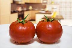 Wet tomato Royalty Free Stock Photography