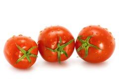 Wet tomato. On a white background Stock Photo