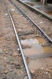 Wet train track Stock Photography