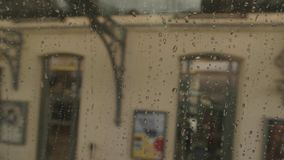 Wet train window. stock video