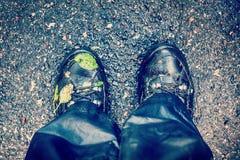 Wet trekking boots Stock Image