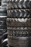 Wet truck tyres Stock Image