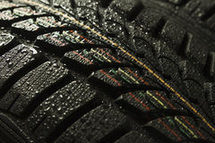 Wet tyre Royalty Free Stock Image