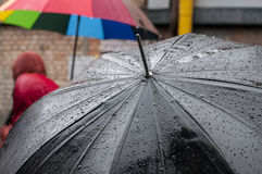 The wet umbrella Royalty Free Stock Photography