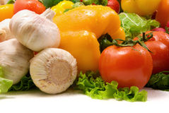 Wet vegetable. S isolated on white background royalty free stock photo