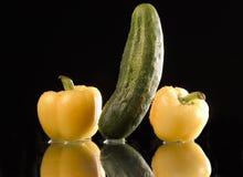 Wet vegetables stock photos