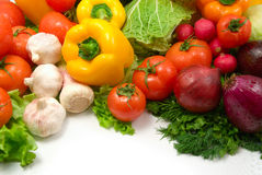 Wet vegetables. Isolated on white background stock photography
