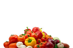 Wet vegetables Royalty Free Stock Images