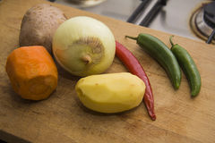 Wet vegetables for salad Stock Photography