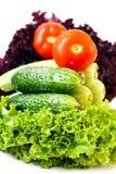Wet vegetables Stock Image
