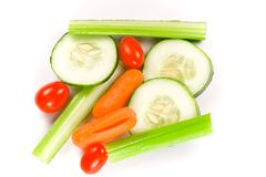 Wet veggies Royalty Free Stock Photography