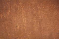 Wet wall rusty sheet of iron Stock Photo