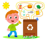 Wet waste recycling game Stock Photo